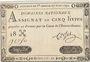 Billets Assignat. 5 livres. 27 juin 1792. Signature : Corsel