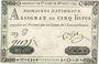 Billets Assignat. 5 livres. 28 septembre 1791. Signature : Corsel
