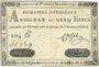 Billets Assignat. 5 livres. 30 avril 1792. Signature : Corsel