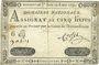 Billets Assignat. 5 livres. 6 mai 1791. Signature : Corsel