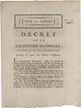 Billets Décret du 24 octobre 1792 relatif à la création de quatre cents millions d'assignats