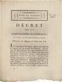 Billets Décret du 27 octobre 1792 relatif à la création des assignats de 25 sous