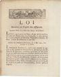 Billets Loi du 23 mai 1792 relative au papier des assignats