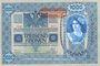 Billets Autriche. Banque Austro-Hongroise. Billet. 1 000 couronnes (1919) surchargé sur billet du 2.1.1902