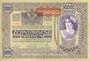 Billets Autriche. Banque Austro-Hongroise. Billet. 10 000 couronnes (1919) surchargé sur billet du 2.11.1918