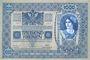 Billets Autriche. Banque Austro-Hongroise. Billet. 1000 couronnes (1919) surchargé sur billet du 2.1.1902