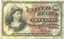 Billets Etats Unis. Billet. 10 cents 3.3.1863
