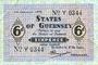 Billets Guernesey. Occupation allemande. Billet. 6 pence 1.1.1942