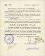 Billets Pays Bas. Commune (Gemeente) de Steenwijk. 1 gulden 7.8.1914