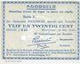 Billets Pays Bas. Commune (Gemeente) Enschede. Billet. 25 cent 14.5.1940