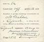 Billets Pays Bas. Gendt. Waalsteenindustrie. 5 gulden 12 cent. 22.8.1914
