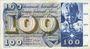 Billets Suisse. Billet. 100 francs 28.3.1963