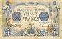 Billets Banque de France. Billet. 5 francs bleu, 22.12.1916