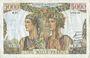 Billets Banque de France. Billet. 5000 francs, Terre et Mer, 3.11.1949