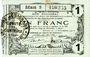 Billets Aisne, Ardennes et Marne - Bon régional. Hirson. Billet. 1 franc 12.12.1917, série 5