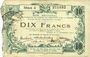 Billets Aisne, Ardennes et Marne - Bon régional. Hirson. Billet. 10 francs 12.12.1917, série 4