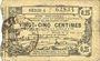 Billets Aisne, Ardennes et Marne - Bon régional. Hirson. Billet. 25 cmes 14.6.1917, série 1