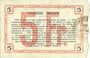 Billets Aisne, Ardennes et Marne - Bon régional. Hirson. Billet. 5 francs 14.6.1917, série 4
