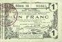 Billets Aisne, Ardennes et Marne - Bon régional. Laon. Billet. 1 franc 16.6.1916, série 16
