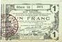 Billets Aisne, Ardennes et Marne - Bon régional. Laon. Billet. 1 franc 16.6.1916, série 18