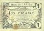 Billets Aisne, Ardennes et Marne - Bon régional. Laon. Billet. 1 franc 16.6.1916, série 19