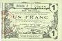 Billets Aisne, Ardennes et Marne - Bon régional. Laon. Billet. 1 franc 16.6.1916, série 5