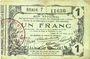 Billets Aisne, Ardennes et Marne - Bon régional. Laon. Billet. 1 franc 16.6.1916, série 7