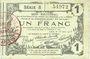 Billets Aisne, Ardennes et Marne - Bon régional. Laon. Billet. 1 franc 16.6.1916, série 8