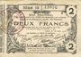 Billets Aisne, Ardennes et Marne - Bon régional. Laon. Billet. 2 francs 16.6.1916, série 10
