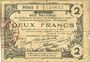 Billets Aisne, Ardennes et Marne - Bon régional. Laon. Billet. 2 francs 16.6.1916, série 3