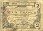 Billets Aisne, Ardennes et Marne - Bon régional. Laon. Billet. 2 francs 16.6.1916, série 4