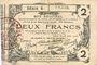 Billets Aisne, Ardennes et Marne - Bon régional. Laon. Billet. 2 francs 16.6.1916, série 6
