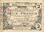Billets Aisne, Ardennes et Marne - Bon régional. Laon. Billet. 2 francs 16.6.1916, série 7