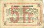 Billets Aisne, Ardennes et Marne - Bon régional. Laon. Billet. 5 francs 16.6.1916, série 2