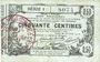 Billets Aisne, Ardennes et Marne - Bon régional. Laon. Billet. 50 cmes 16.6.1916, série 1
