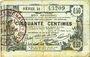 Billets Aisne, Ardennes et Marne - Bon régional. Laon. Billet. 50 cmes 16.6.1916, série 21