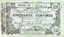 Billets Aisne, Ardennes et Marne - Bon régional. Laon. Billet. 50 cmes 16.6.1916, série 22