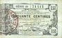 Billets Aisne, Ardennes et Marne - Bon régional. Laon. Billet. 50 cmes 16.6.1916, série 28