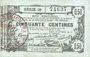 Billets Aisne, Ardennes et Marne - Bon régional. Laon. Billet. 50 cmes 16.6.1916, série 29