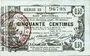 Billets Aisne, Ardennes et Marne - Bon régional. Laon. Billet. 50 cmes 16.6.1916, série 33