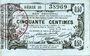 Billets Aisne, Ardennes et Marne - Bon régional. Laon. Billet. 50 cmes 16.6.1916, série 35