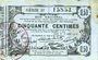 Billets Aisne, Ardennes et Marne - Bon régional. Laon. Billet. 50 cmes 16.6.1916, série 37