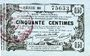 Billets Aisne, Ardennes et Marne - Bon régional. Laon. Billet. 50 cmes 16.6.1916, série 38