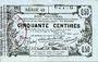 Billets Aisne, Ardennes et Marne - Bon régional. Laon. Billet. 50 cmes 16.6.1916, série 42