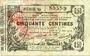 Billets Aisne, Ardennes et Marne - Bon régional. Laon. Billet. 50 cmes 16.6.1916, série 45
