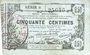 Billets Aisne, Ardennes et Marne - Bon régional. Laon. Billet. 50 cmes 16.6.1916, série 6