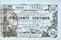 Billets Aisne, Ardennes et Marne - Bon régional. Laon. Billet. 50 cmes 16.6.1916, série 7
