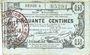Billets Aisne, Ardennes et Marne - Bon régional. Laon. Billet. 50 cmes 16.6.1916, série 9