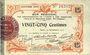 Billets Aisne et  Ardennes. Bon régional. Laon. Billet. 25 centimes 19.9.1915. 4e série
