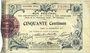 Billets Aisne et  Ardennes - Bon régional, Laon, billet, 50 cmes 19.9.1915, 2e série